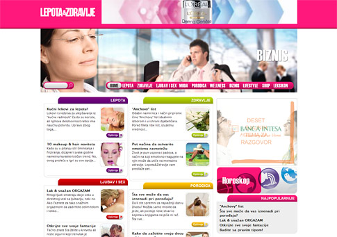 The launch of the first female lifestyle portal in Serbian, www.lepotaizdravlje.rs